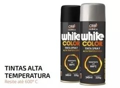 Tinta Spray Alta Temperatura White Color Orbi