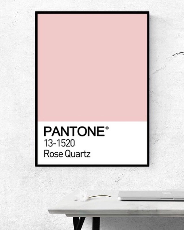 Poster Decorativo Pantone Rose Quartz
