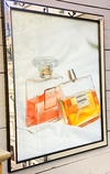 Cuadro Chanel Perfumes Rose And Yellow 66 X 56 CM
