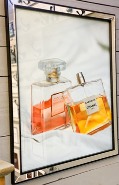 Cuadro Chanel Perfumes Rose And Yellow 66 X 56 CM - bastian&joe