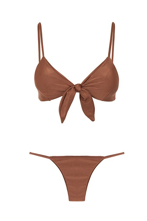BIKINI CARVALHAL ALMOND METALLIC