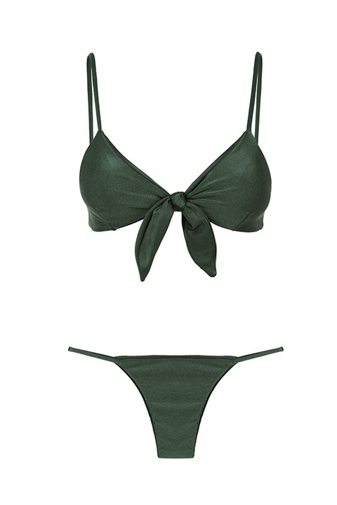 BIKINI CARVALHAL GREEN CROCO