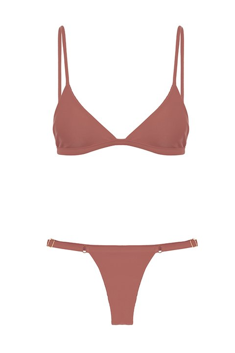 BIKINI COMPORTA METALLIC BRONZE