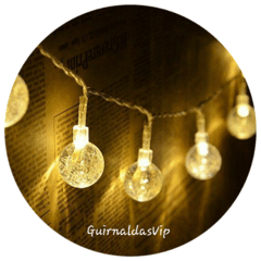Guirnalda de luces led Burbujas Cristal Brillo purpurina