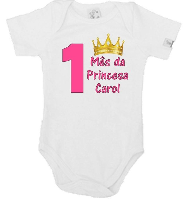 Body Mesversario Princesa na internet