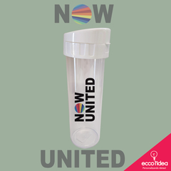 ECO WATER COM TAMPA BRANCA - NOW UNITED -  LOGO