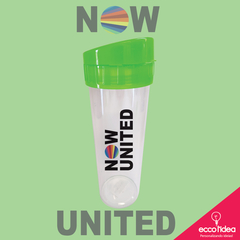 ECO WATER COM TAMPA VERDE - NOW UNITED -  LOGO