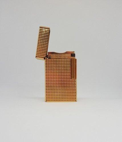 Encendedor Dupont Made In France Bañado En Oro