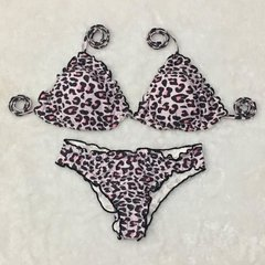 Biquíni animal print rosa