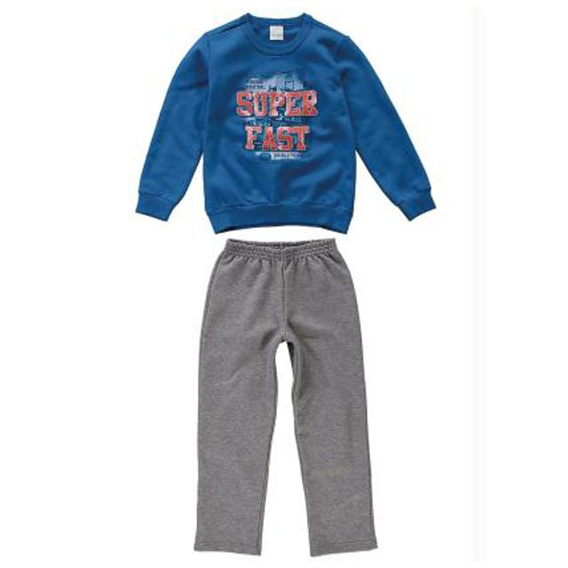 cb14114c1b Conjunto Infantil Malwee Kids Azul - Amandinha Kids