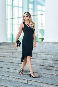 VESTIDO BASIC MIDI BANDON na internet