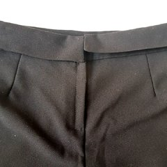 Shorts Saia Drapeado Preto A Collection - comprar online