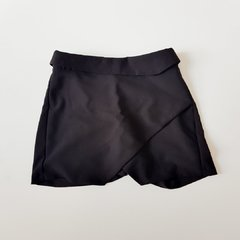 Shorts Saia Drapeado Preto A Collection