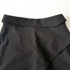 Shorts Saia Drapeado Preto A Collection - DONDOCA VENDE  TUDO