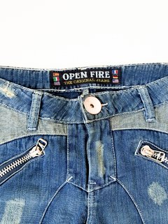 Calça Jeans Destroyed Feminina Open Fire na internet