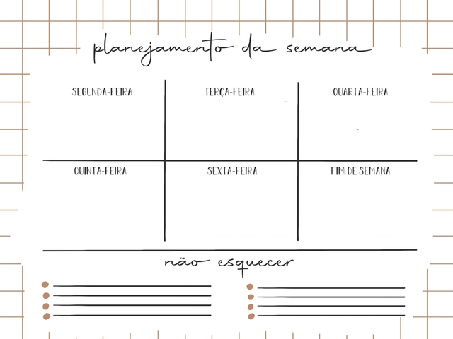 Planner Semanal Home Office - Para Download