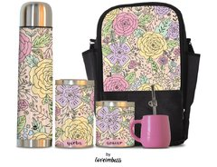 Set Matero con Bolso Flower Lovers by Loveimbass