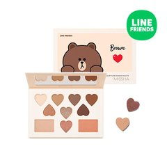 MISSHA (Line Friends Edition) Color Filter Shadow Palette Special Set - Shy Shy Brown