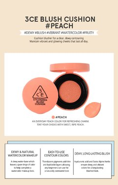 3CE - BLUSH CUSHION #PEACH en internet