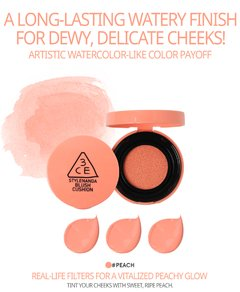 3CE - BLUSH CUSHION #PEACH - JuliJuli Beauty K-shop