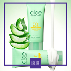 Holika Holika - Aloe Waterproof Sun Gel SPF50+ PA++++ 100ml - JuliJuli Beauty K-shop