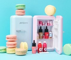 Peripera - Peri's Mini Fridge (Dal Dal Factory Limited Edition): Ink The Velvet Miniature #16 + Vivid Tint Water Miniature #02 + #06 + Ink Liquid Cheek #Peach Pink + Ink Multi Shading Miniature + DIY Item & Stickers