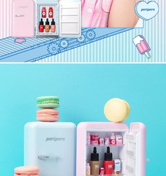 Peripera - Peri's Mini Fridge (Dal Dal Factory Limited Edition): Ink The Velvet Miniature #16 + Vivid Tint Water Miniature #02 + #06 + Ink Liquid Cheek #Peach Pink + Ink Multi Shading Miniature + DIY Item & Stickers en internet
