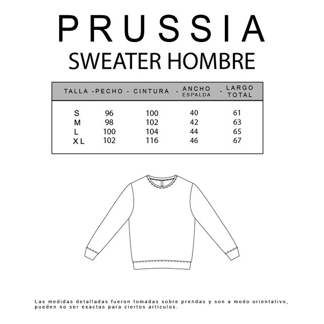 SWEATER RAVEN - 20512 HOMBRE PRUSSIA - Prussia