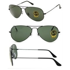 Ray Ban Aviator rb3025 L2823 negro/verde oscuro g15 en internet