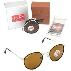 Ray ban round metal folding rb3517 019/n6 plateado/marrón polarizado en internet