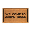 Capacho personalizado - Welcome to Zaib's House