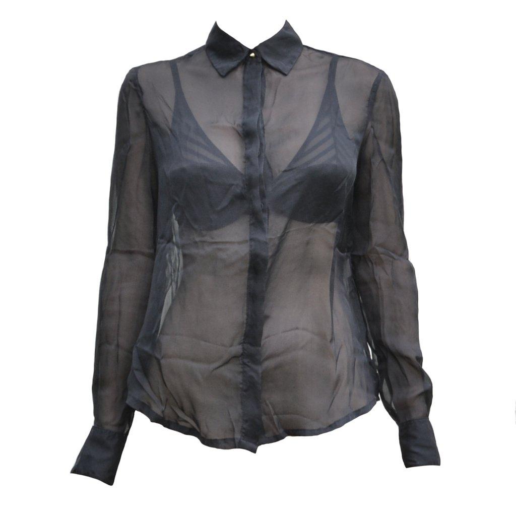 ... comprar online Camisa musseline seda preta na internet 29265764dee