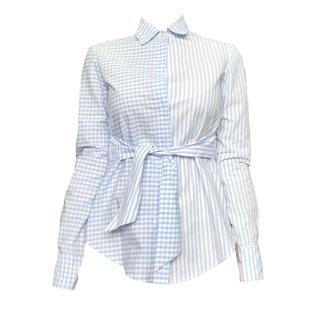 Camisa tricoline vichy listras