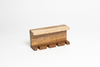 HOLDER DE PARED DE MADERA NATURAL PARA 4 CEPILLOS