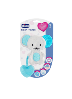 MORDILLO FRESH FRIENDS CELESTE +4M CHICCO - comprar online