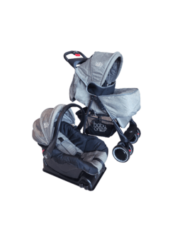 COCHE TRAVEL SYST. BABYONE SMART GRIS - comprar online