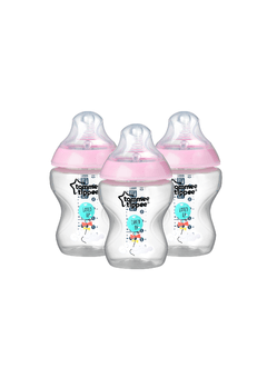 BIBERON CLOSE2NATURE ROSA 260CC x3 TOMMEE TIPPEE