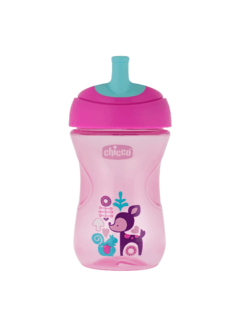 VASO ADVANCED CUP CHICCO ROSA/VIOLETA 12M+