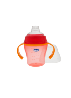 VASO CHICCO SUAVE COLOR ROJO 6M+