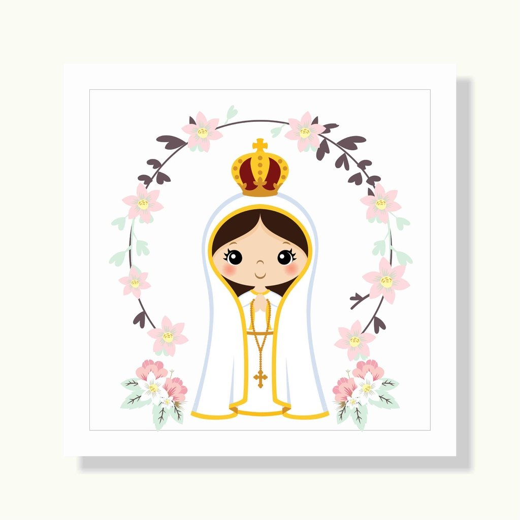 Quadro Menina Nossa Senhora De Fatima