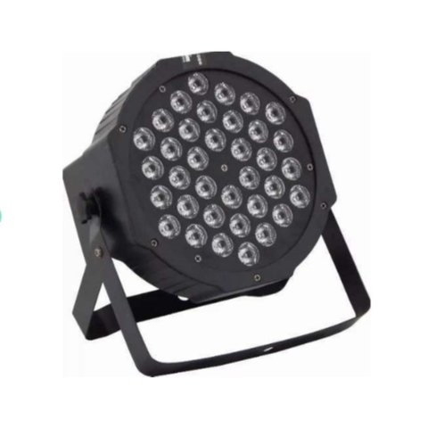 Canhao Refletor Par 64 36 Leds Rgb Dmx Slim Display Digital.