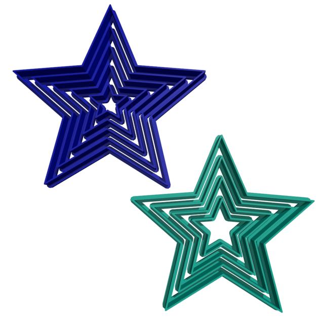 cortante estrellas set  comprar en gisegi3d