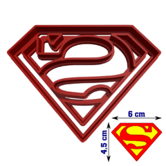 Cortantes Superman 6cm Fondant