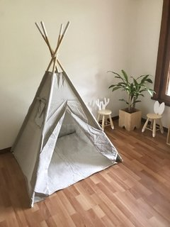 CARPA INDIA CON PISO GRIS-CRUDO