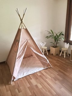 CARPA INDIA CON PISO ROSA VIEJO-CRUDO