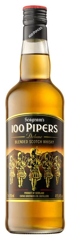 100 Pipers Whisky 750 cc