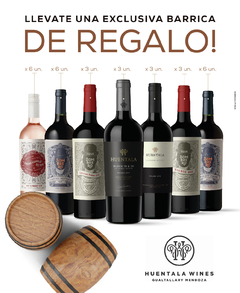 Huentala Wines / MIX 30 un. + Barrica DE REGALO!