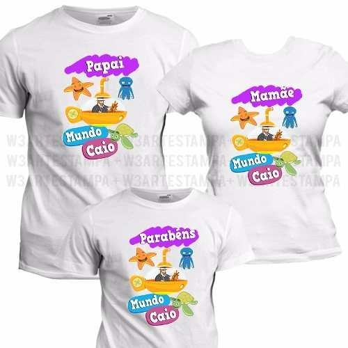 1 Camiseta Personalizada Mundo Bita Blusa Kit Aniversario e32834a1b8309
