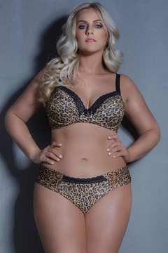 CONJUNTO M'LEV PLUS SIZE BORDADO ANIMAL PRINT