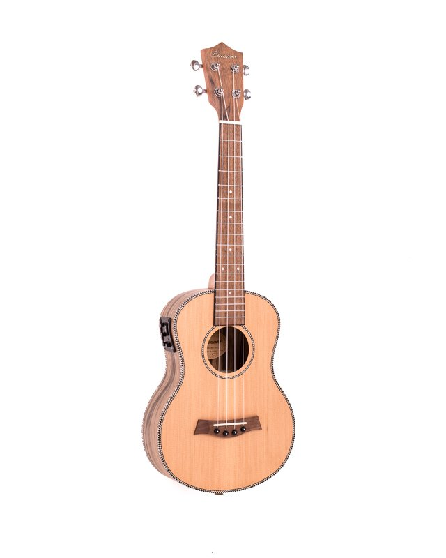 Solid Cedar wood Ukulele Tenor w/eq (Includes Gig bag)